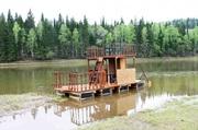 Сплав на двухэтажном плоту по реке Уфа